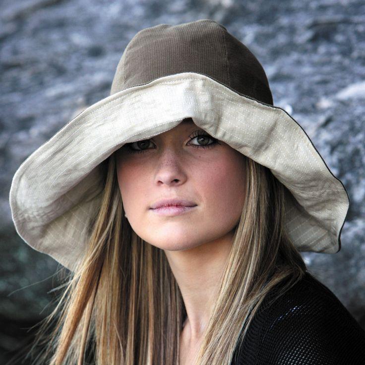 【楽天市場】UVカット 帽子(女性用) - レディース ハット つば広 帽子 HAT レディース ladies - ファブリック クラッシュ ルック カラー:ブラウン ※紫外線カット(UVカット)最高値UPF50+:サングローブ