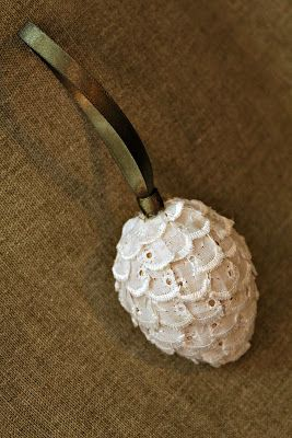 Lacy Pinecone Ornament