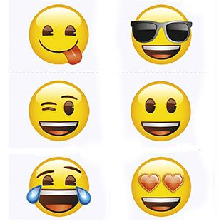 Emoji Tattoos - 24 Pk Party Supplies Canada - Open A Party