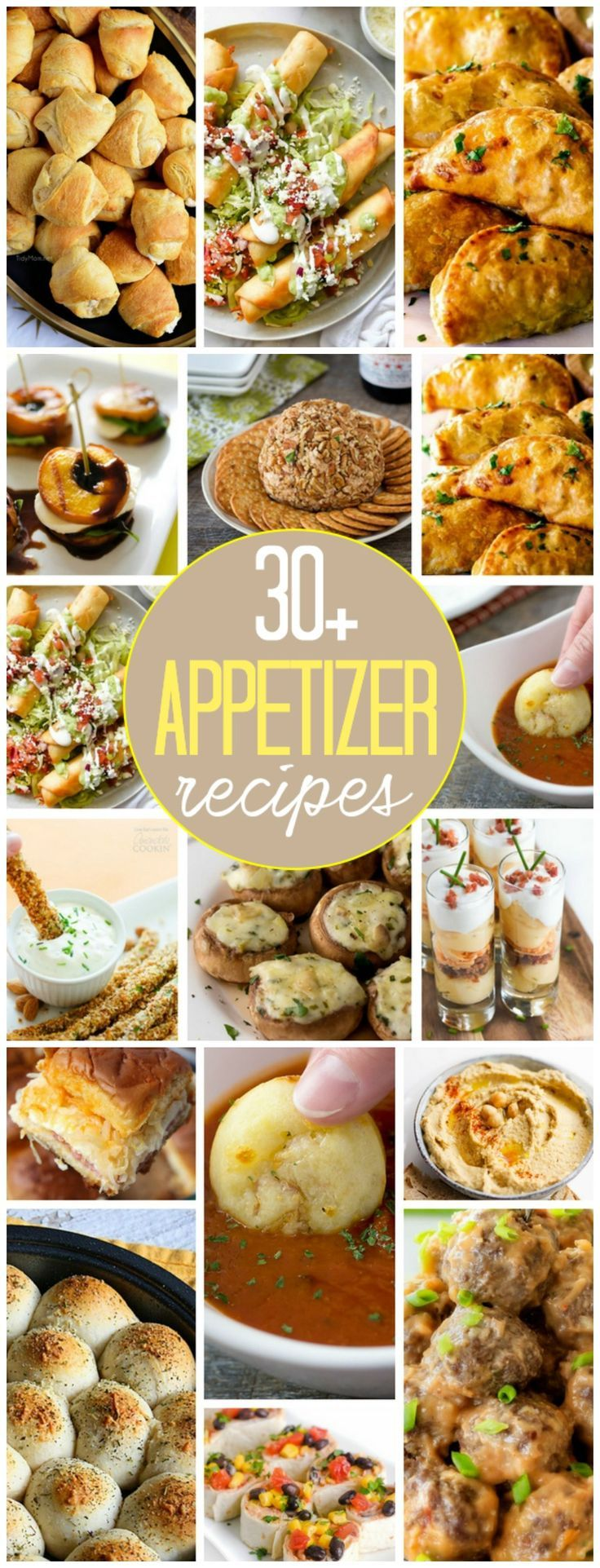 Appetizers are great whether you're greeting a crowd or just having a few friends over. We've gathered 30 Appetizer Recipes that everyone is sure to love!