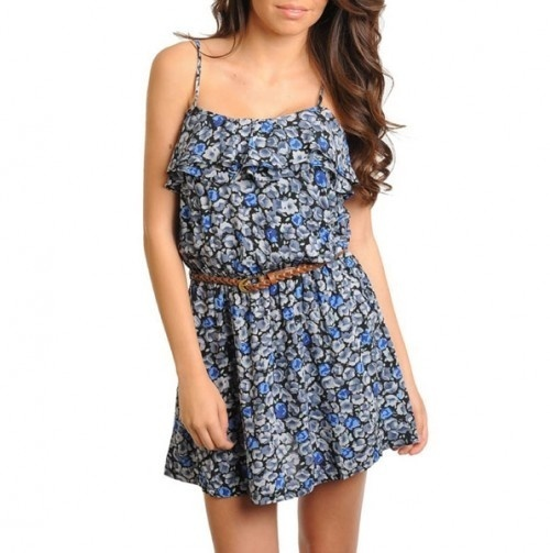 Such a cute summer dress, perfect with cowboy boots