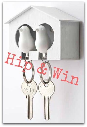 Sparrow Key Volgelhuisje sleutelkastje @Hippe Shops Webwinkels