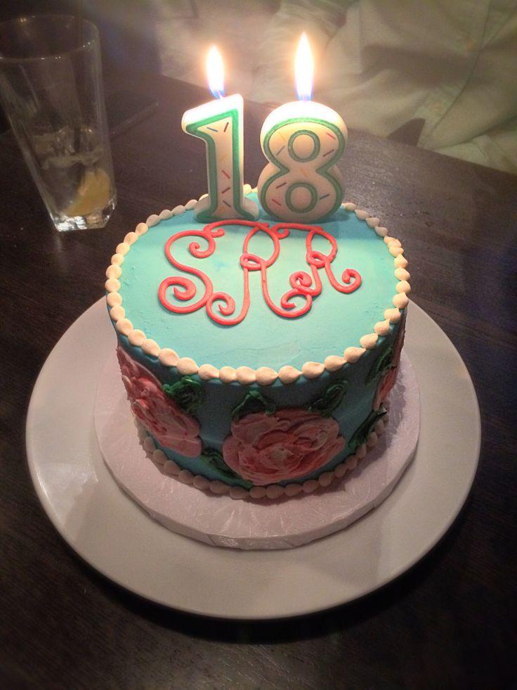 monogrammed Lilly Pulitzer birthday cake