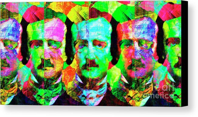 Once Upon A Midnight Dreary 20140118v2 Long Canvas Print / Canvas Art by Wingsdomain Art and Photography  wingsdomain celebrity celebrities edgar allan alan allen poe edgar allan poe edgar allen poe edgar alan poe nevermore sweet lenore poetry poet poets poem poems writer write…