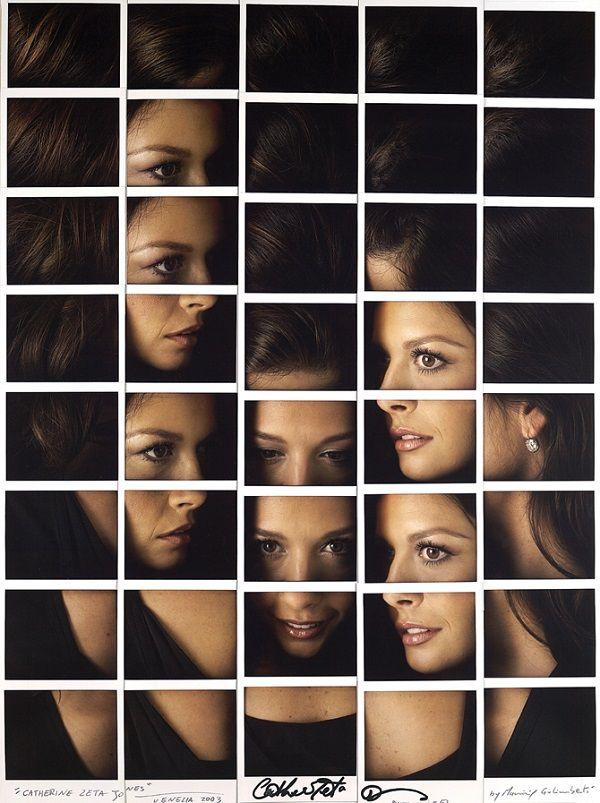 """Catherine Zeta Jones in """"Celebrity Works"""" by Maurizio Galimberti"""