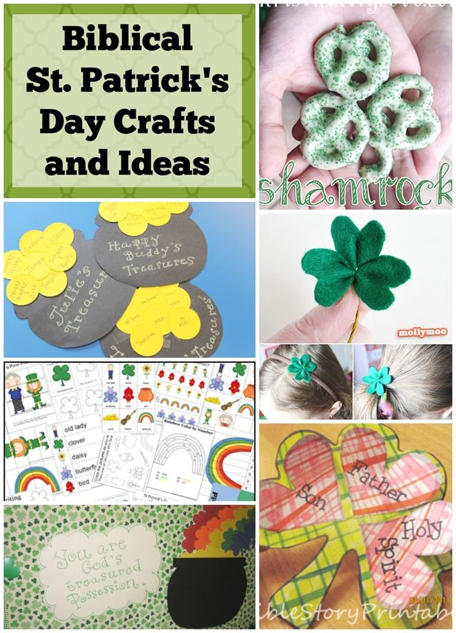 Biblical St. Patrick's Day Crafts and Ideas. Did you know that St. Patrick was a real person?