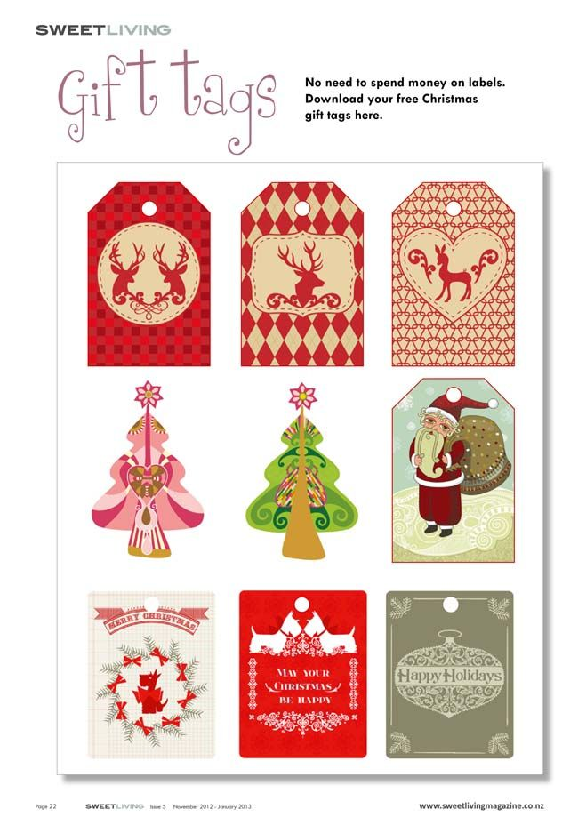 Free Sweet Living05 printable gift tags2