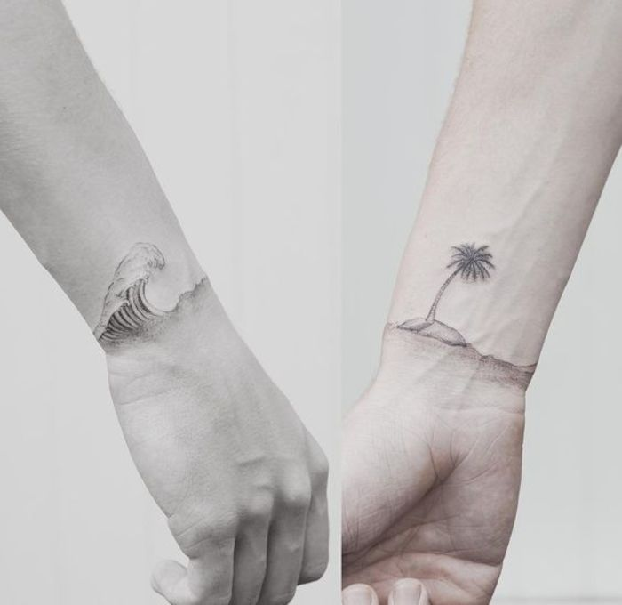 57 cool tattoos for couples symbolizing eternal love