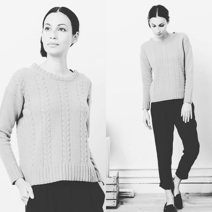 white and black mood knitwear outfit