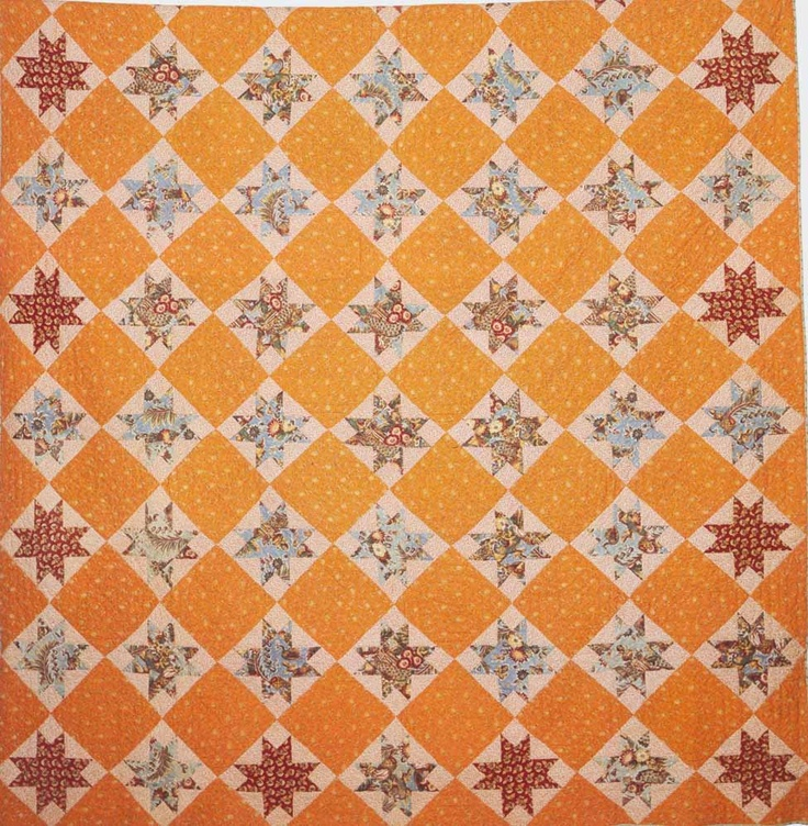 Ohio Star, 1830. Made by Susan P. Mayhew. Chilmark. Massachusetts Quilts, Our Common Wealth.
