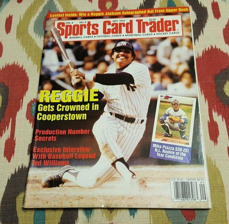 REGGIE JACKSON Sports Card Trader 1993 Magazine Mike Piazza