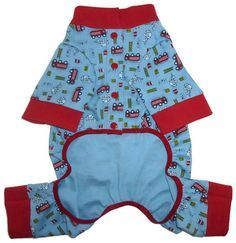Cute and charming Sweet Dreams Dog Pajama pattern for your little dog! Constructed of light to medium weight stretch knits, the dog pajamas are