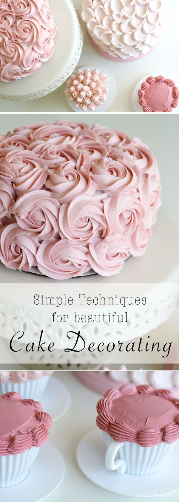 DIY Tutorial - Learn these simple techniques for cake decorating!