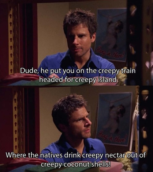 hahaha <3 Psych... and that Hang in There kitty poster is classic!!!