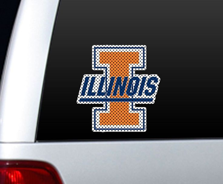 Illinois Fighting Illini Die-Cut Window Film - Large