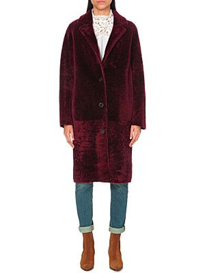 SANDRO Sticky sheepskin coat