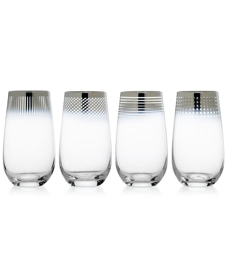 Mikasa Cheers Collection Metallic Ombre Highball Glasses