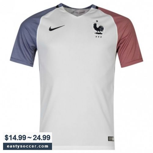 2016 France Away White Soccer Jersey Shirt| $14.99~$24.99 | https://www.eastysoccer.com | Shop Cheap Soccer Jersey  | Free Shipping WorldWide! | #EastySoccer