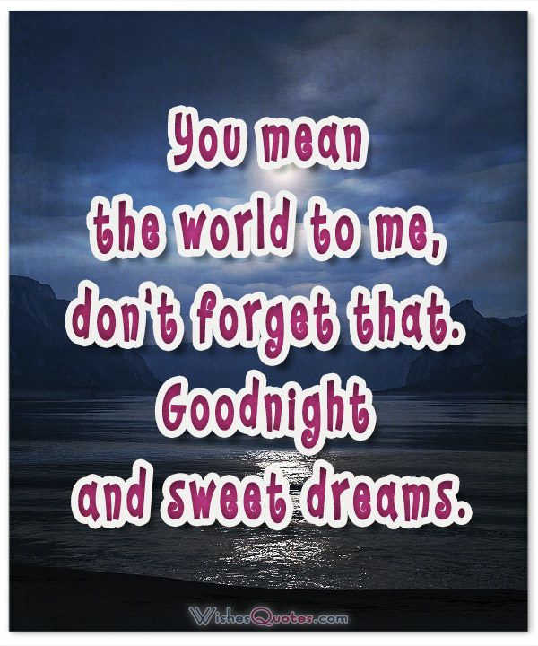 Image with Good Night Message for Her. Goodnight and sweet dreams.