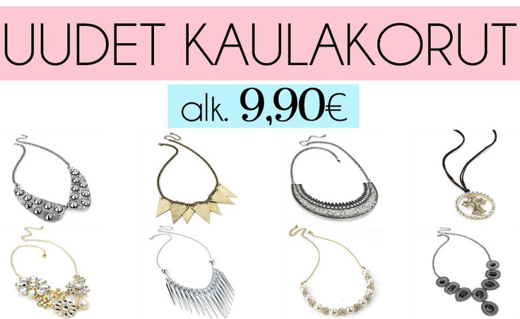 Lots of new fabulous necklaces at www.westyle.fi!