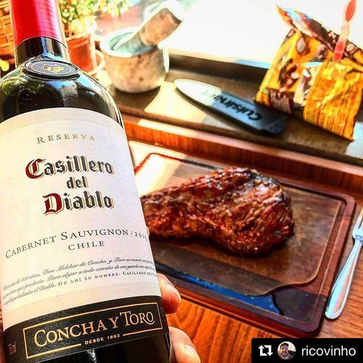"Casillero del Diablo #CabernetSauvignon! ・・・  ""🇨🇱🍷❤️ #wineglass #winetasting #winetime #winegeek #vin #wine #vinho #conchaytoro #casillerodeldiablo #chileanwine #chile #cabernetsauvignon #cs #wineporn #churrasco #barbecue"""