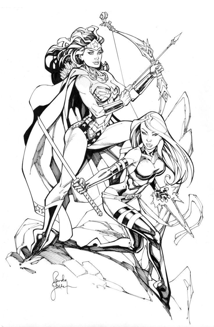 Wonder Woman and Psylocke by RandyGreen.deviantart.com on @deviantART
