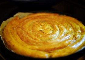 La tarte serpentin au chorizo et aux courgettes