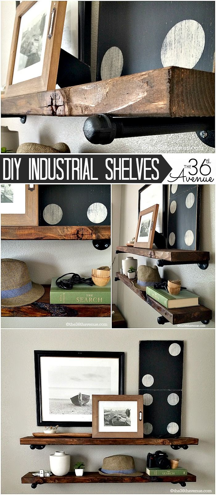 DIY - Home Decor : These DIY Industrial Shelving is super easy