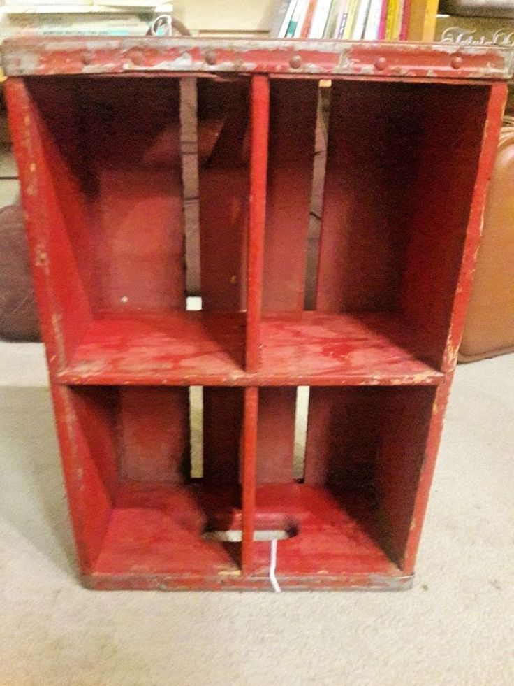 Red CANADA DRY Wooden Crate Wood Vintage Shipping Crate Advertising Box
