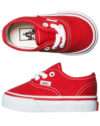 SURF DIVE 'N' SKI | JETTY SURF - KIDS - BOYS CLOTHING - BOYS FOOTWEAR - TOTS AUTHENTIC SHOE BY VANS IN RED