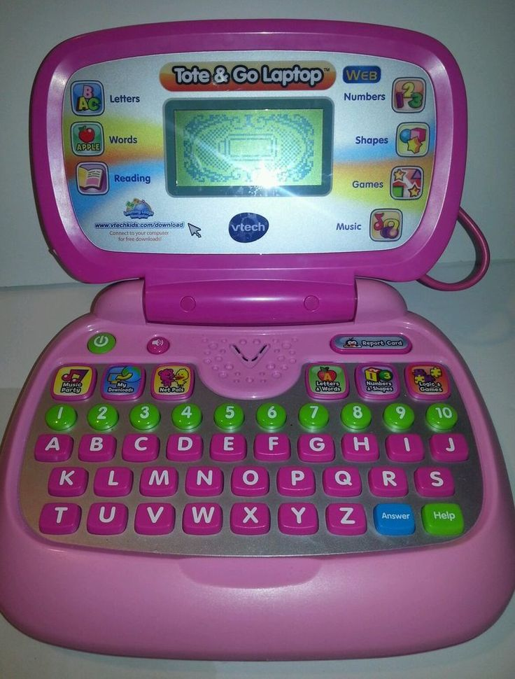 PINK Tote & Go Laptop, Vtech Childrens Kids Laptop Toy ...