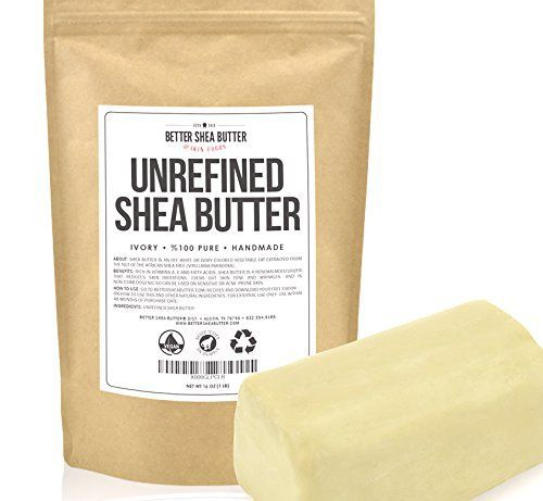 Unrefined Shea Butter by Better Shea Butter - African, Raw, Pure - Use Alone or in DIY Body Butters, Lotions, Soap, Eczema & Stretch Mar (74096) - Hot2econd