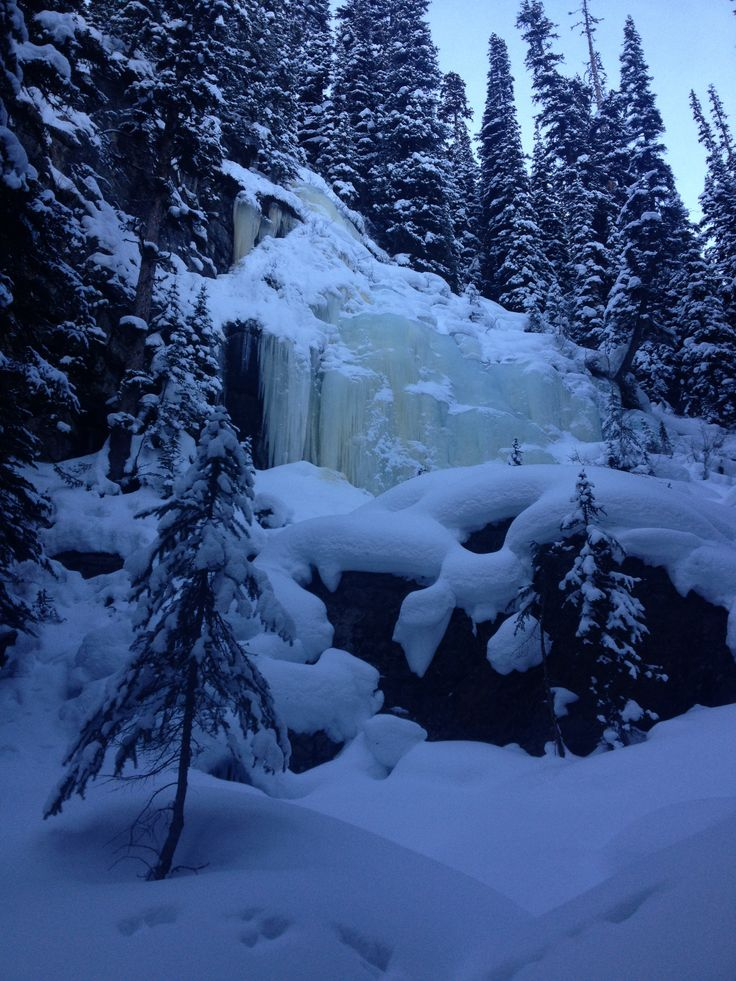 Frozen waterfall Banff Alberta