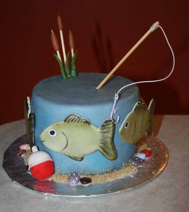 - hand painted gum paste fish