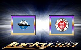 Prediksi Skor Paderborn vs St. Pauli 14 Agustus 2017 | Prediksi Paderborn vs St. Pauli 14 Agustus 2017 | Pasaran Pertandingan Bola Paderborn vs St. Pauli DFB Pokal, Liga Jerman | Agenbola Online | Sbobet Online - Pada lanjutan pertandingan DFB Pokal, Liga Jerman ini akan mempertemukan 2 tim yaitu Paderborn melawan St. Pauli. Laga antara Paderborn vs St. Pauli kali ini akan di Benteler-Arena (Paderborn), Paderborn pada tanggal 14 Agustus 2017 pukul 23:30 WIB.