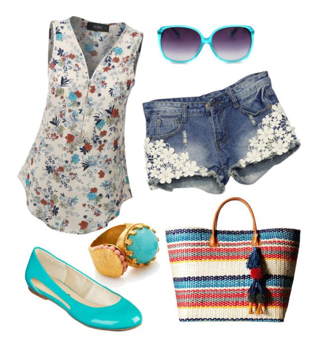 """""""Casual Picnic Date Outfit"""" by trendeetoad on Polyvore featuring LE3NO, Ottoman Hands and Hat Attack"""