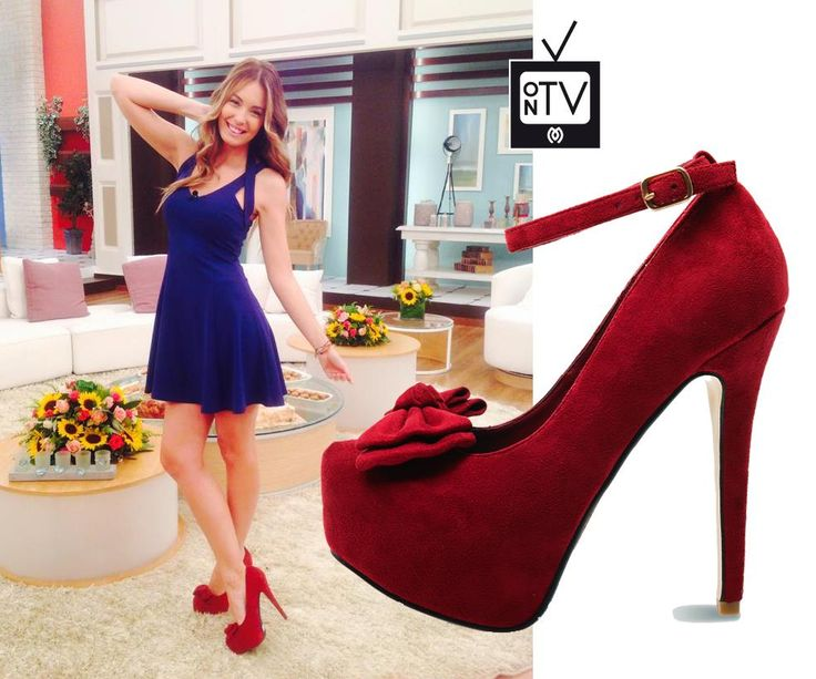 Antonia Kallimoukou wearing her red #MIGATO EK4799 pumps on the set of Eleni tv show!