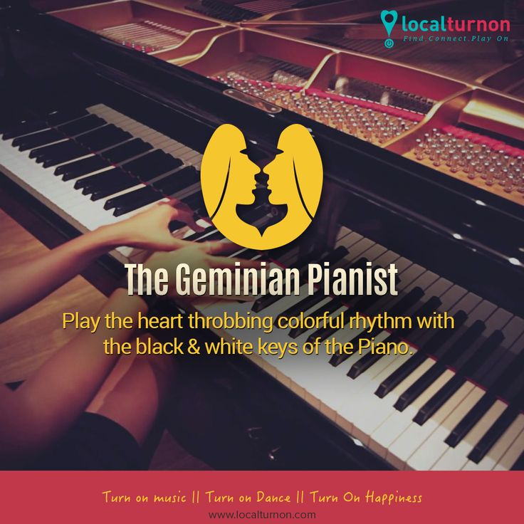 ‪#‎musicandstars‬ The Geminian Pianist The piano keys are black and white but the music which comes out of it is a soul wrenching amalgamation of different colors. A divine rhythm for the compassionate and sensitive Gemini in you, indeed, a perfect combination.