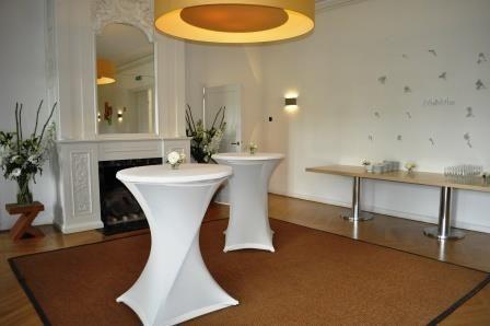 De Grand Salon van Huis de Werve in Voorburg in sfeer voor  de huwelijksvoltrekking.