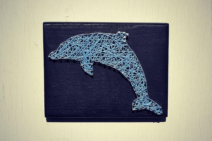 String and Nail Art - Dolphin - Wall Decor