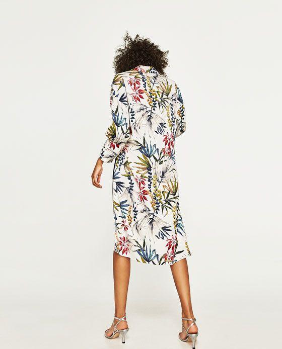 Image 5 of LONG PRINTED KIMONO from Zara