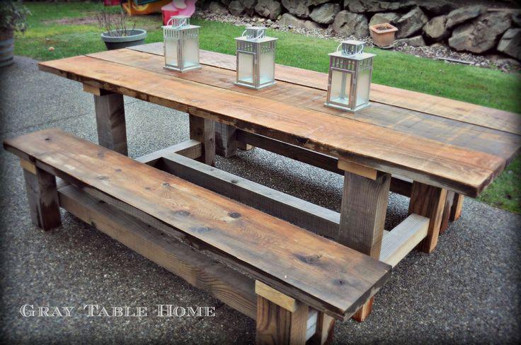 - Reclaimed Wood Cedar Farm Table Past Projects Pinterest