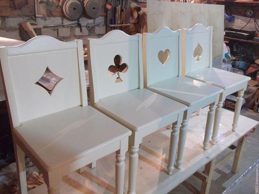 Мебель ручной работы. Ярмарка Мастеров - ручная работа. Купить комплект стульев для игры в карты. Handmade. Бежевый