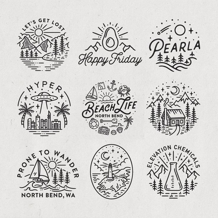 Worked on a lot of circular logo and illustration projects this last month appar