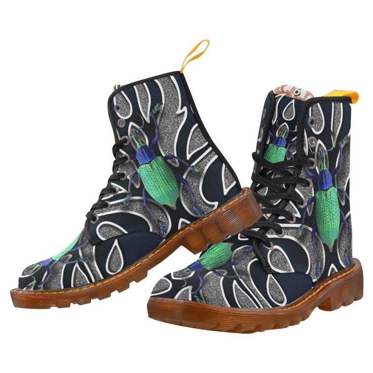 Collage Green Bettle-Gloria Sanchez Martin Boots For Women Model 1203H