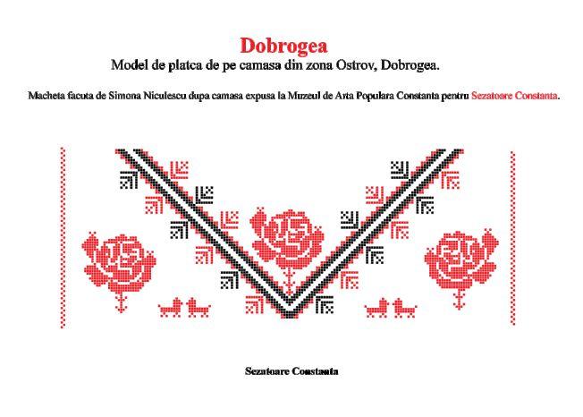 Ne dorim foarte mult sa impartim cu iubitorii Dobrogei aceasta macheta facuta de fondatoarea Sezatoarei Constanta, Simona Niculescu. Acesta camasa a fost expusa la Muzeul de Arta Populara din Const...