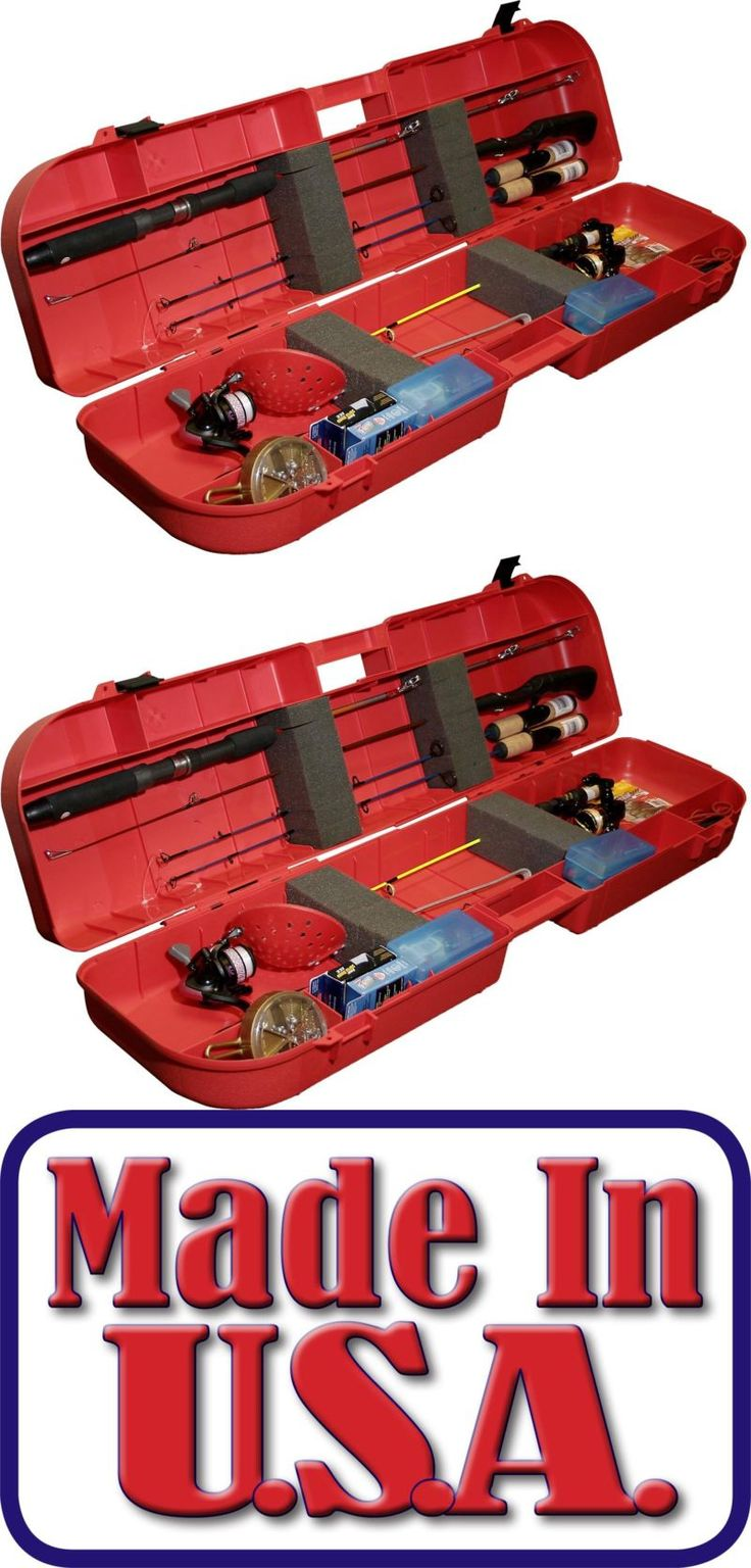 Ice Fishing Rods 179947: Large Portable Lockable Tackle Box Case W/ Handle For Ice Fishing Rod And Gear Red BUY IT NOW ONLY: $42.09