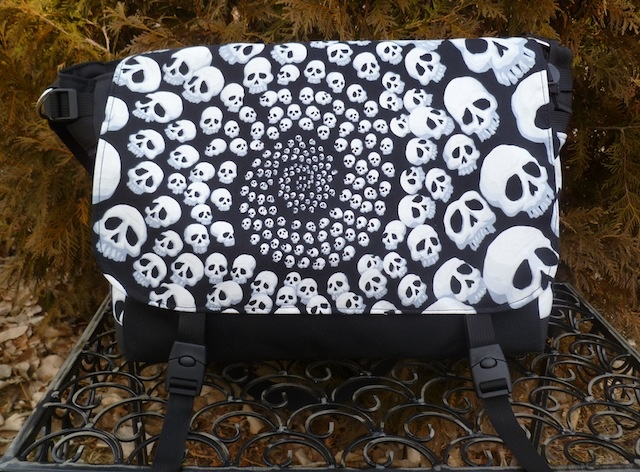 Skull-Finity Lynx Deluxe Messenger Bag by Zoe's Bag Boutique
