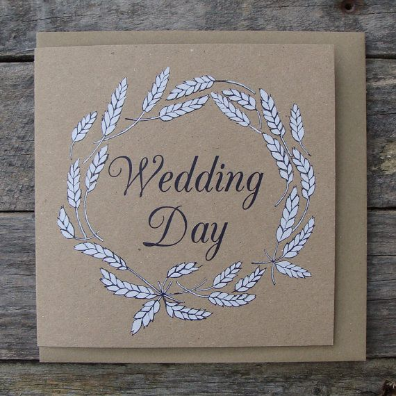 Wedding Day Card by afarmersdaughteruk on Etsy