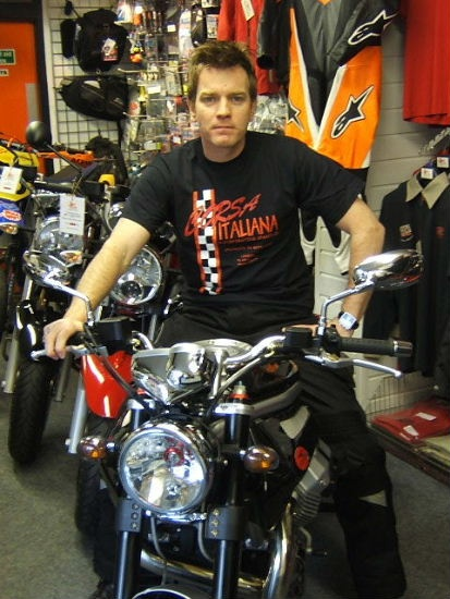 Ewan McGregor...on a motorcycle....TAKE ME! I'M YOURS!!!